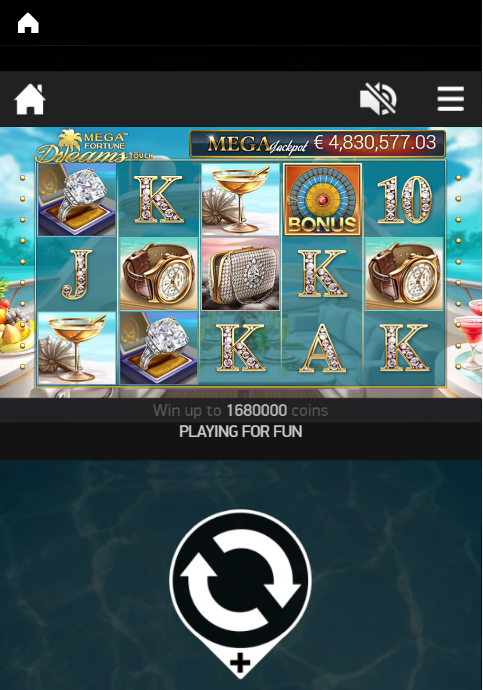 Mega Fortune Dreams a progressive jackpot slot, here it's being played on a mobile at LeoVegas Casino.
