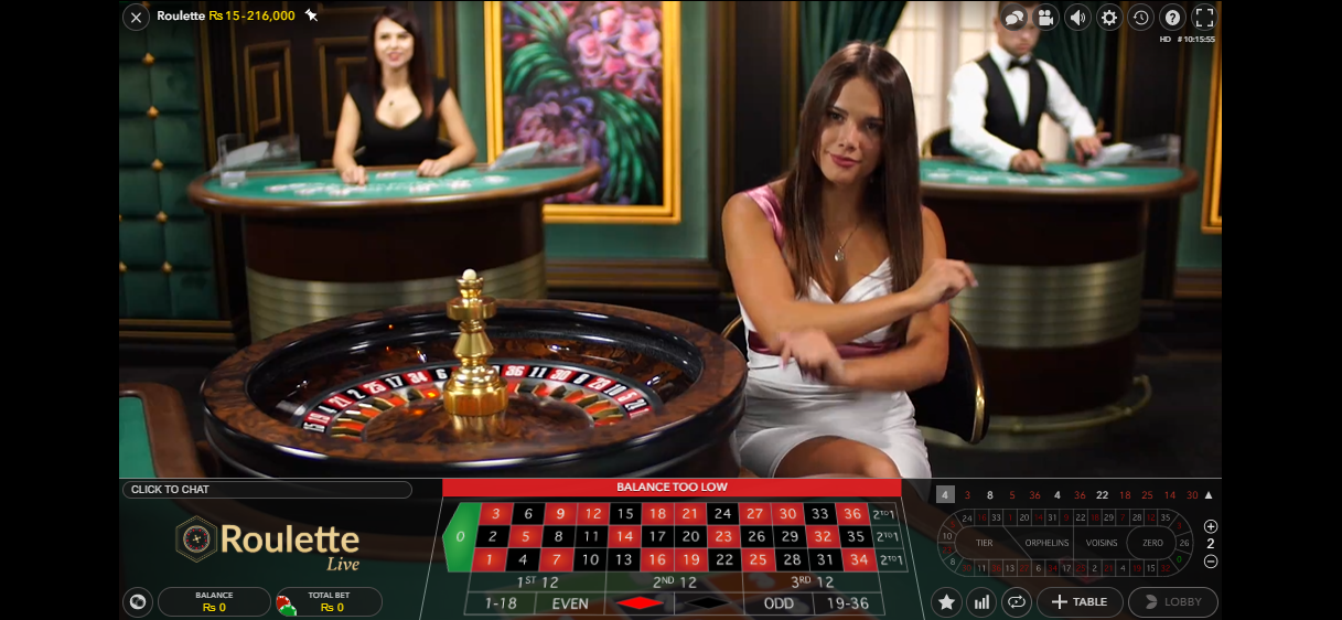 Live roulette played at ShowLion with live dealer