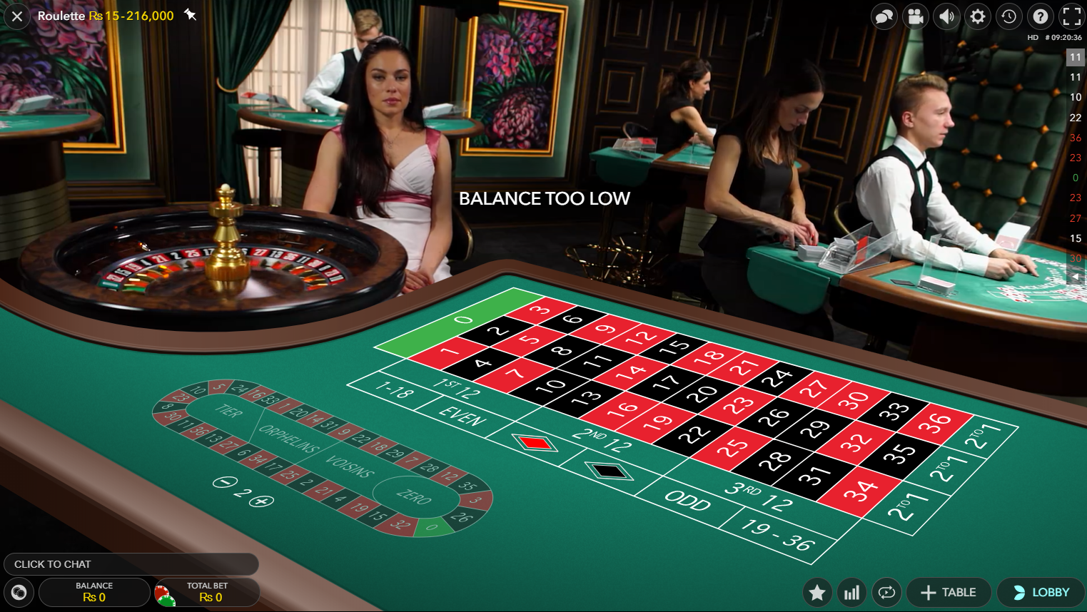 Live roulette with 3d view on mobile