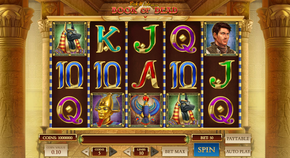 Book Of Dead being played at LeoVegas mobile casino