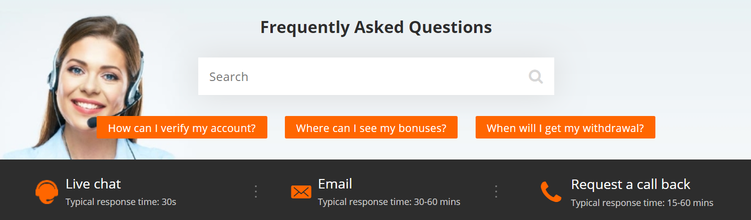 "In the ""help centre"" section at Betsson, is where you will find the answers to all the questions you might have"