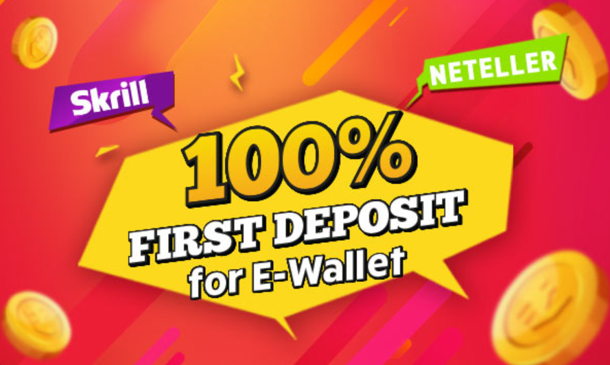 100% Deposit when using E-wallet