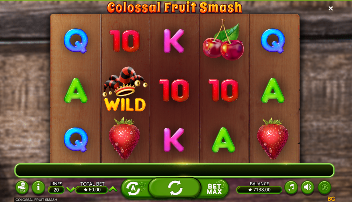 Colossal Fruit Smash being played at the online casino ShowLion