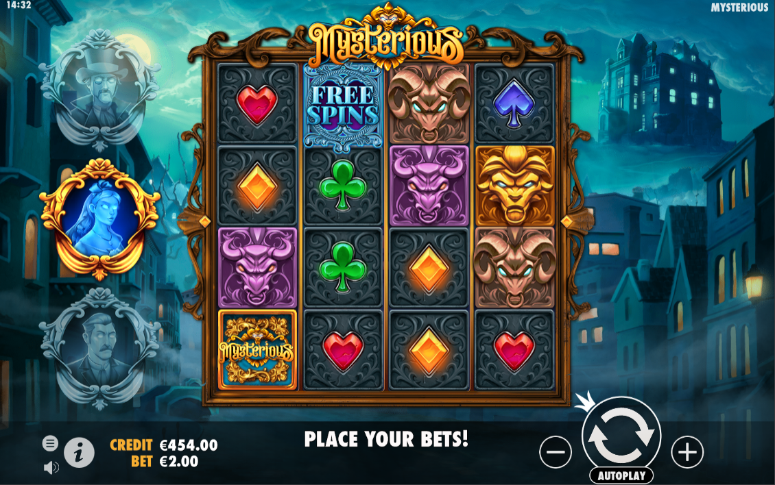 The MEGAWAYS slot Mysterious being played at the online casino ShowLion