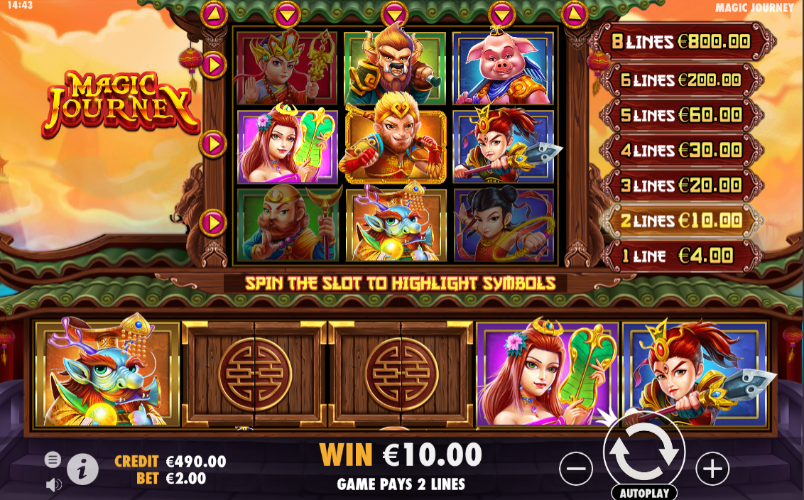 Magic Journey being played at the online casino ShowLion