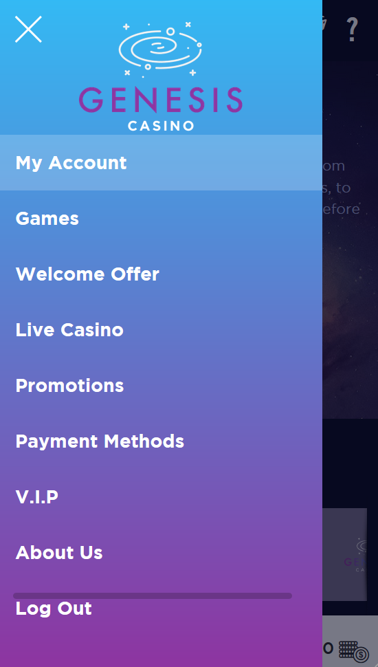 The sidebar menu that is always available in the top left corner