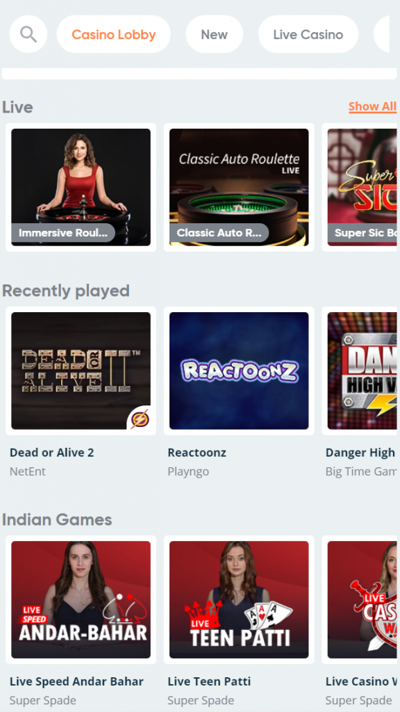 The most favorite online casino games in India are available at Pure Casino