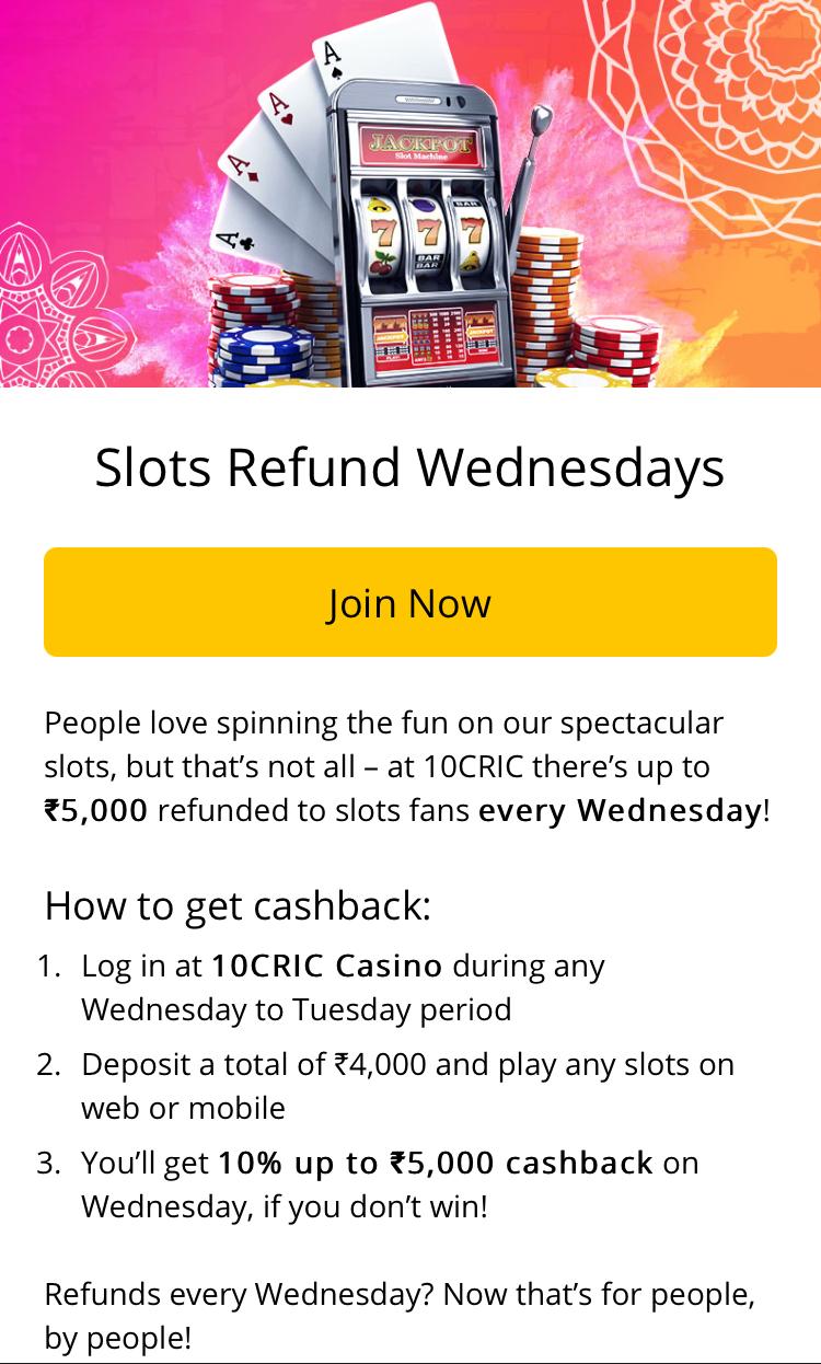 Slots Refund Wednesdays
